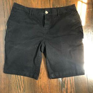 Chino black shorts.   Size 10.
